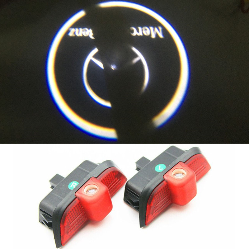 2x Ghost LED Door Step Courtesy Shadow Laser Light For Mercedes C-Class 08-14 W204(China (Mainland))
