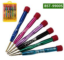 BEST BST-9900S 6 in 1 Disassemble tools set Cross flat Philips screwdrivers special for Cellphone computer repair free shipping(China (Mainland))
