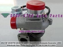 HX25W 4038790 4038791 4089714 3599355 Turbo Fit for Komastu excavator 2004- PC100 PC200 PC128US Diesel Engine Turbocharger