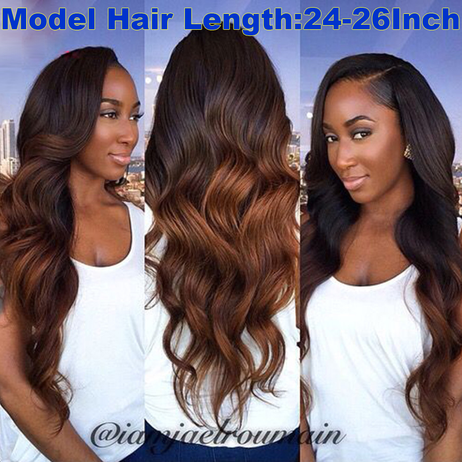 Silk Top Full Lace Wigs With Natural Hairline Silk Base Full Lace Human Hair Wigs For Black Women Wavy Remy Ombre Human Hair Wig(China (Mainland))