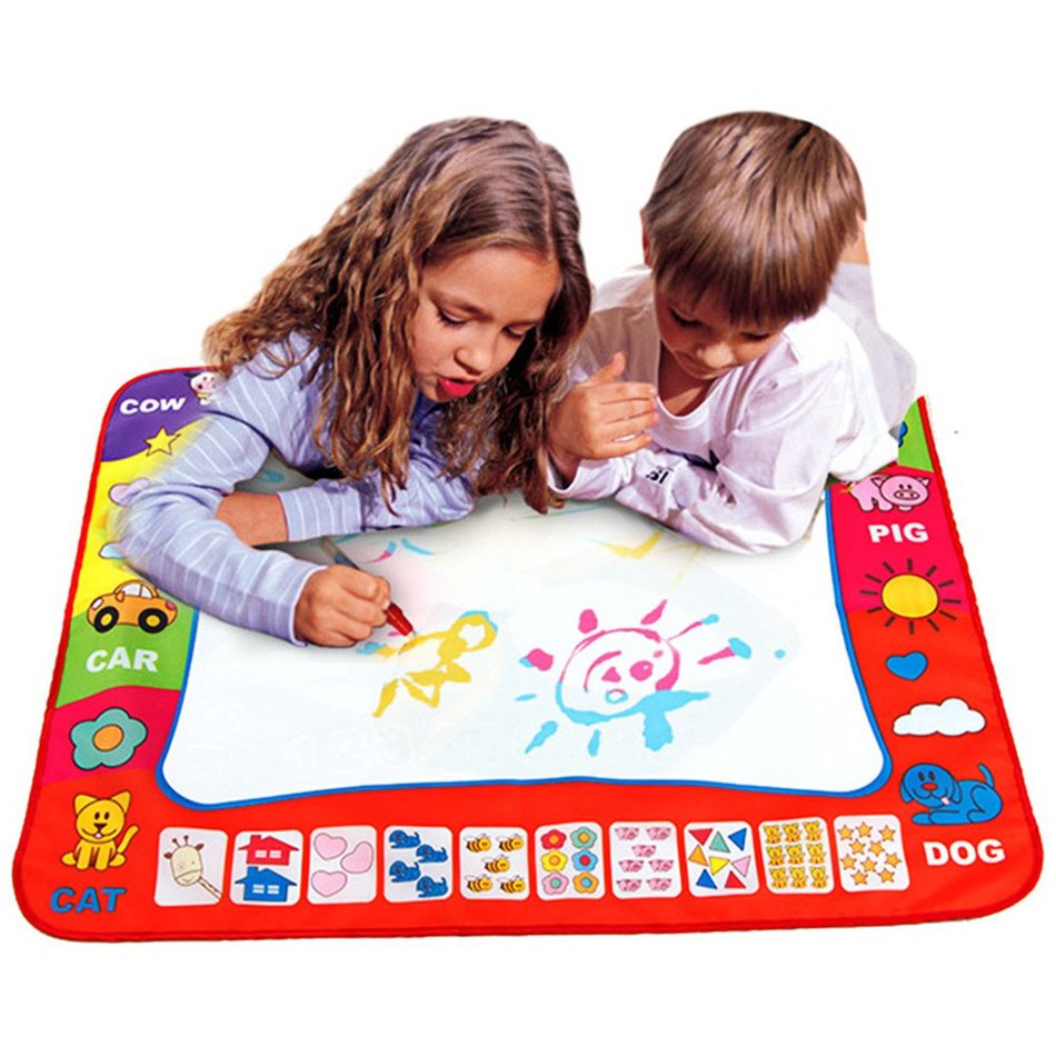 Children Doodle Drawing Toys 1 Painting Mat + 2 Water Drawing Pen Child's drawing board/drawing mat(China (Mainland))