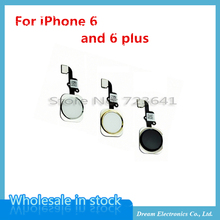 """10pcs/lot NEW Home Button with Flex Cable for iPhone 6 4.7"""" / 6plus 5.5"""" Black/White/Gold Home Flex Assembly Free shipping(China (Mainland))"""