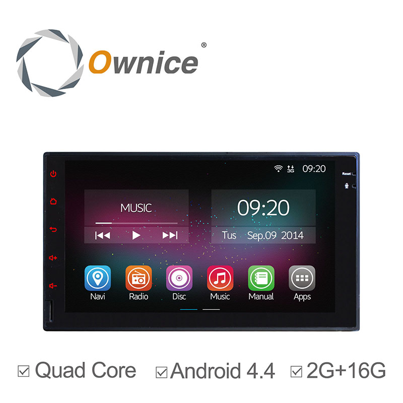 """Ownice 7"""" Universal Quad Core Android 4.4 2 Din Car Multimedia Video Player Radio GPS Navigation Full Touch Panel Without DVD(China (Mainland))"""
