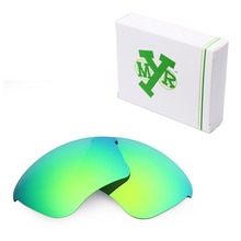 MRY POLARIZED Replacement Lenses for Oakley Half Jacket XLJ Sunglasses Emerald Green