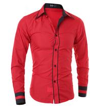 Men Shirt 2016 Fashion Brand Men'S Cuff Striped Long-Sleeved Shirt Male Camisa Masculina Casual Slim Chemise Homme XXL CNSKD(China (Mainland))