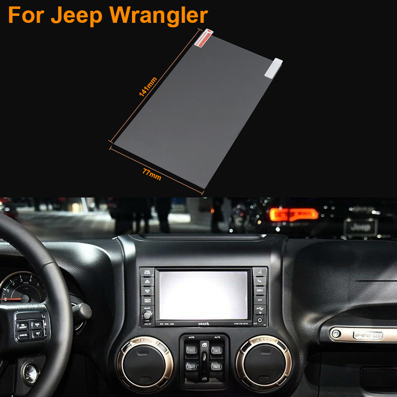 Car Styling 6.5 Inch GPS Navigation Screen Steel Protective Film For Jeep Wrangler Control of LCD Screen Car Sticker(China (Mainland))