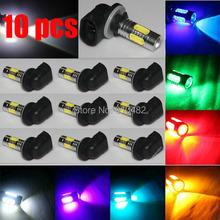 Free Shipping 10pcs High Power 881 H27 12V 7.5W 5SMD Plasma LED Projector Bulb Fog Driving Light car styling parking fog lgihts(China (Mainland))
