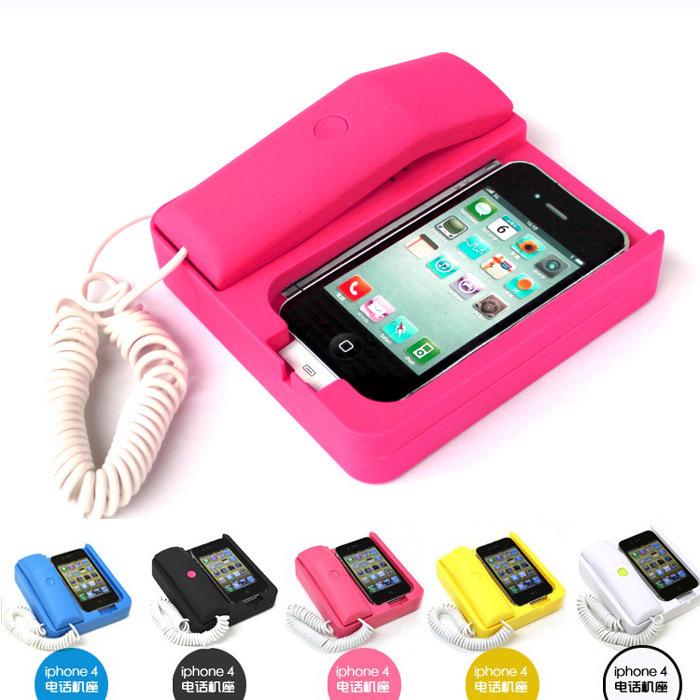 Free Shipping New Fashion Retro Telephone Landline Dock Handset For Phone 3G 4G(China (Mainland))