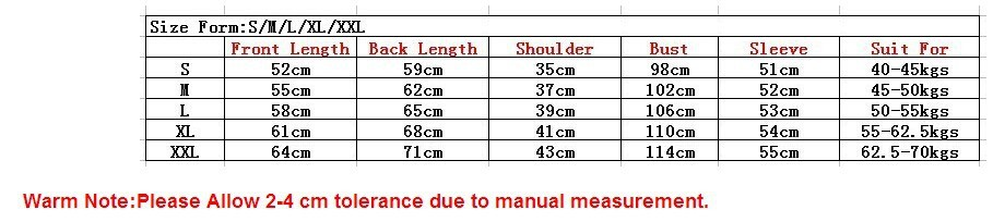 table size