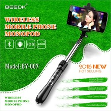 2015 New Inovative BEEOK-007 Extendable Portable Mobile Phone Bluetooth Selfie Monopod Selfie Stick Tripod For Samsung&iPhone