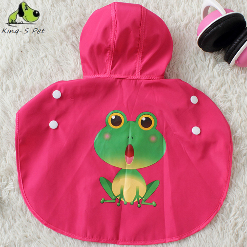 Puppy Dog Waterproof Cute Frog Pattern Raincoat Jumpsuit Fashion Suit Sportwear Rose Red Blue Raincoat For Dogs XS-XXL(China (Mainland))