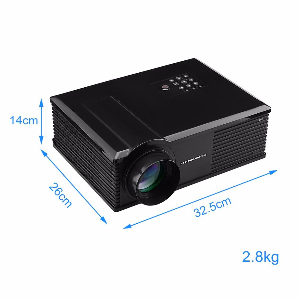 Excelvan PH580 HD Home Theater Projector Multimedia LCD LED Projector 3200Lumen 720P HDMI/ATV/AV/USB/VGA/S terminal/Audio Input(China (Mainland))