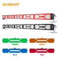 Auxmart DIY 52 500w 5D Spot Flood Combo Beam LED Light Bar DRL Amber Green Blue