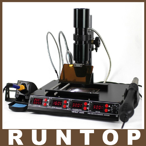 3 Functions in 1 Infrared Bga Rework Station SMD Hot Air Gun 75W Soldering Irons 540W