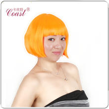 A+ Quality!10 Colors Bob Women Short Wigs Black Ladies Synthetic Wigs Women Short Straight Hair Cosplay Wigs Brown RED H05(China (Mainland))