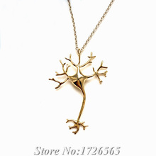 New Summer Style Science 3D Neuron Necklace & Pendant Boho Chic Long Thin Chain Nerve Cell Colar Fashion Necklaces For Women2015