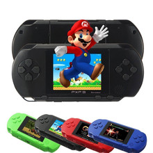 Handheld PXP3 Game Players Console Built-in 150 hot Games 16 Bit Retro TV-Out Video Game with 2 Games Cartridge for Kids Gadgets(China (Mainland))