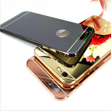 Mirror Aluminum Case For iPhone 6 4.7 inch Luxury Slim Acrylic Back Cover For iPhone 6s Plus 5.5 4s 5s Mobile Phone Capa Fundas