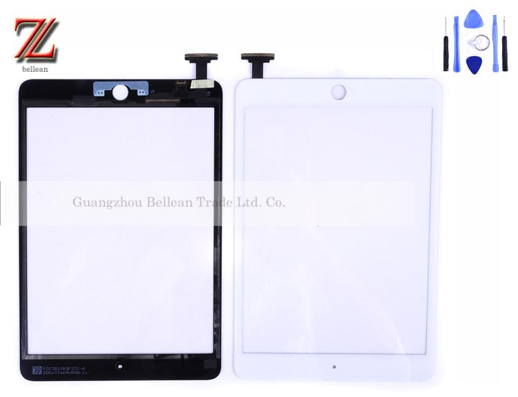 New and original touch screen for ipad mini 1 2 touch with home button with ic 1pcs free shipping china post 15-26days+tools(China (Mainland))