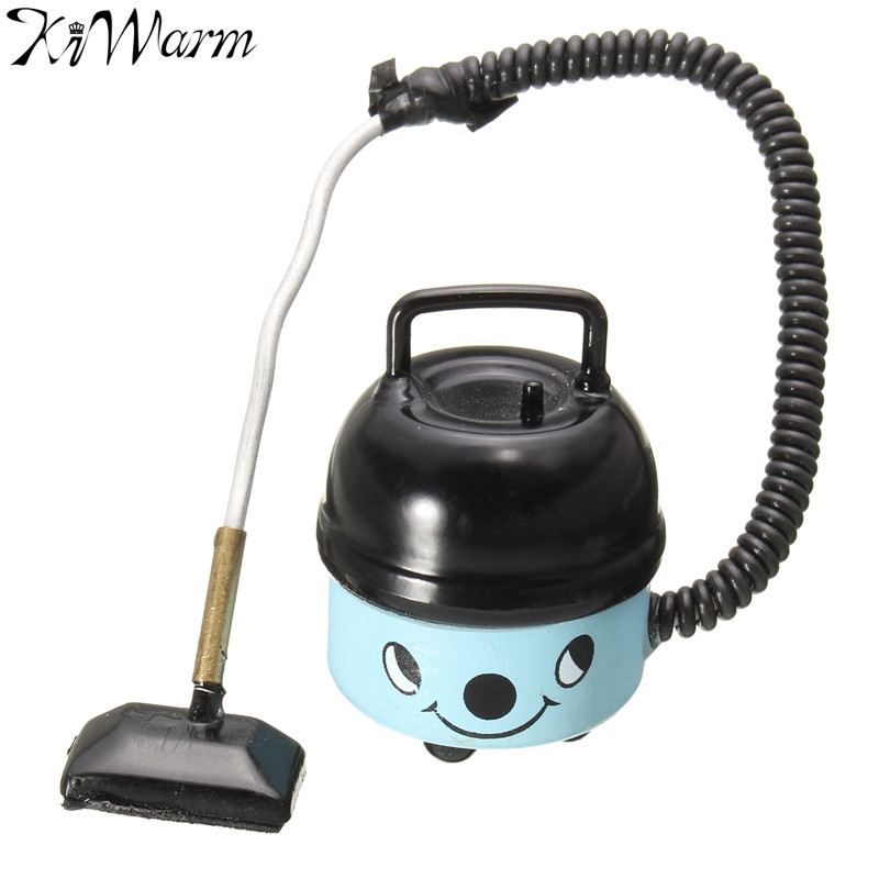 Miniature Furniture Blue Vacuum Cleaner Non working Mop Broom Tools Dolls House Figurines Ornaments Toys Kids Christmas Gift(China (Mainland))