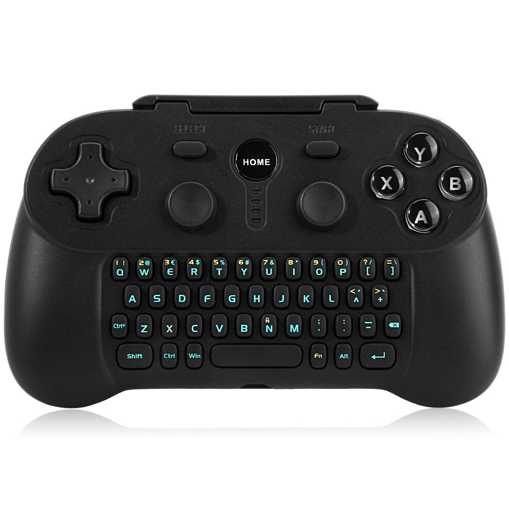 Wireless Bluetooth 3.0 Gamepad with Keyboard supports Bluetooth HID joystick for Smart TV Smart Phone<br><br>Aliexpress