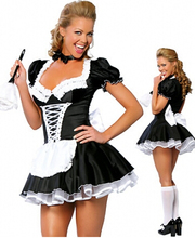 free shipping zt8181 French Maid Costume Uniform Sexy Adult Dress up cosplay  without fur brush size S,M,L,XL,2XL,3XL,4XL