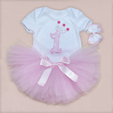 Newborn Skirt 2015 Baby Girl Skirts Summer Pink TUTU Skirt Bodysuit +Ball Gown Skirt 0-2Years Infant Toddler  Baby Clothing(China (Mainland))