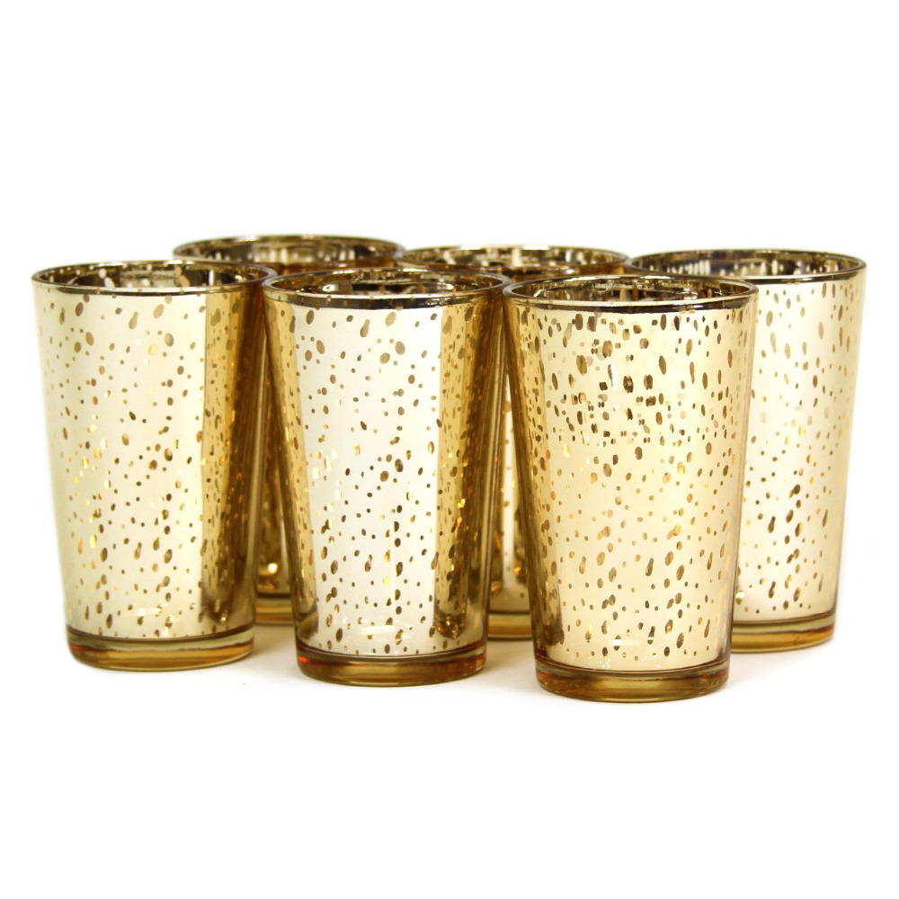 4 inch tall mercury votive holder in gold silver for 12pcs lots each candle. Black Bedroom Furniture Sets. Home Design Ideas