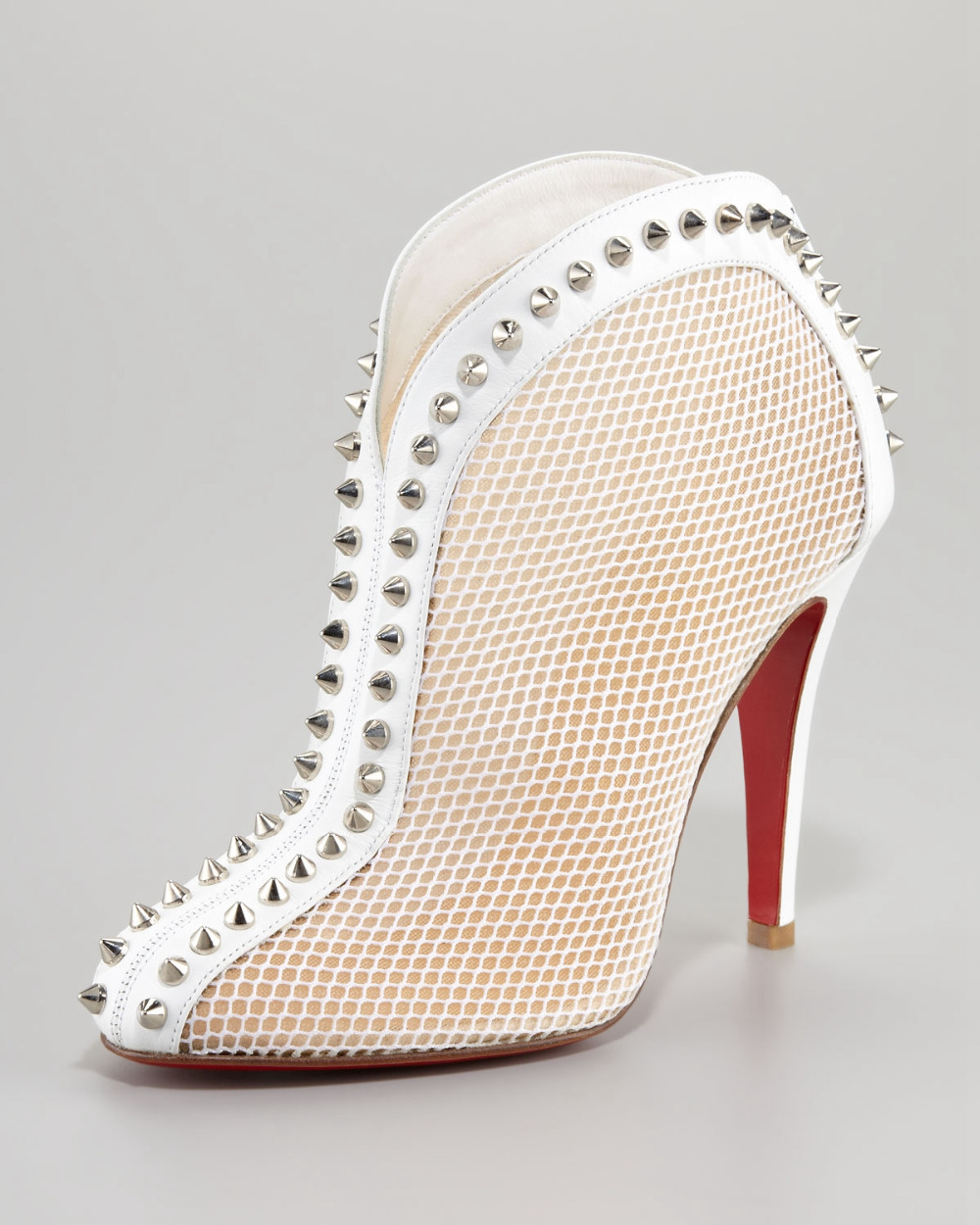 White Leather Pumps High Heel