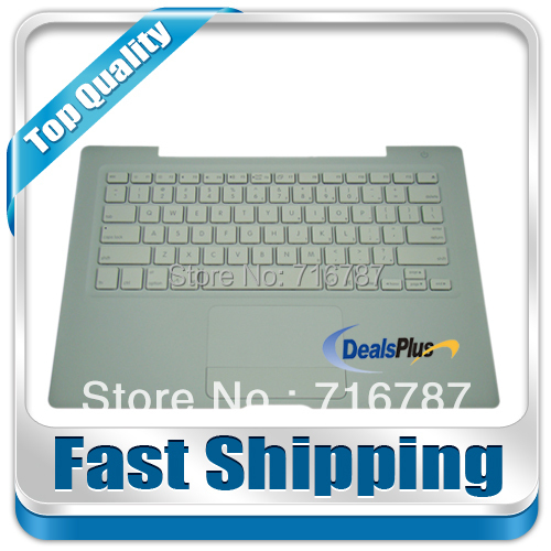 NEW FOR Macbook 13 A1185 Top Case TOUCHPAD US Keyboard White  with silver cable<br><br>Aliexpress