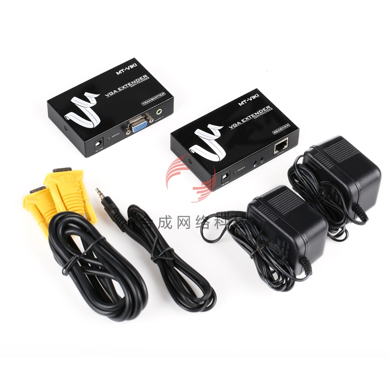 MT-200T VGA Extender VGA signal amplifier + audio cable extension 200 m power adapter standard, please contact(China (Mainland))