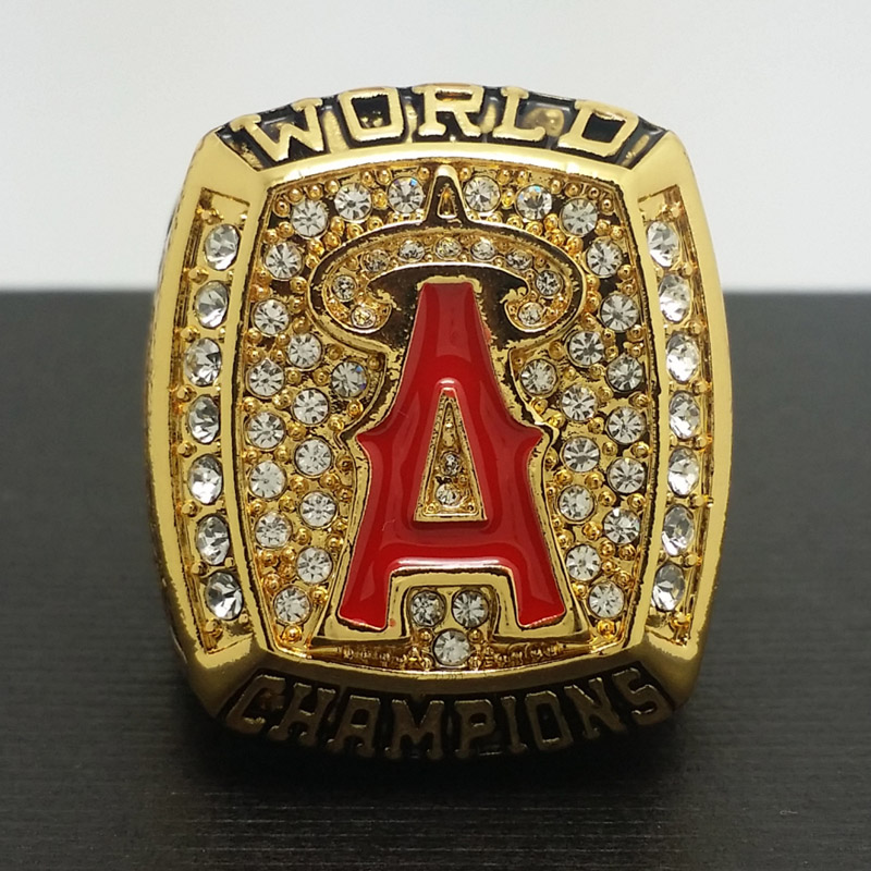 2002 Anaheim Angels MLB World Series Championship Alloy Ring 11 Size 'Glaus' Fans Gift Collection High Qaulity - ring store