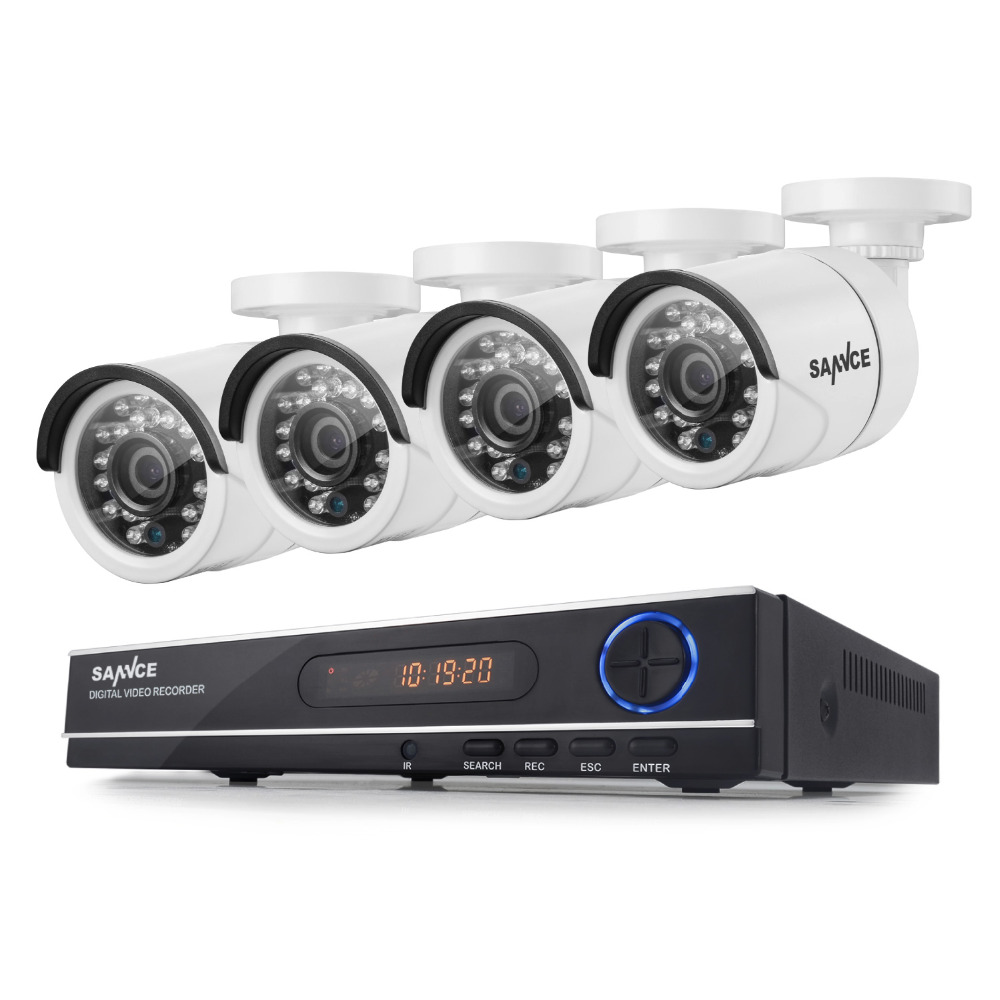 SANNCE 8CH 720P AHD DVR 4PCS 1200TVL IR Night Vision Outdoor CCTV Camera 24 LEDs Home Security CCTV System Surveillance Kit(China (Mainland))