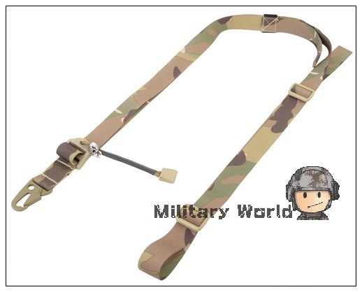 Emerson Military Combat Tactical Quick Adjustable 2 Point Sling Bungee Rifle Gun Slings For Hunting Airsoft
