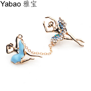 Yapolo small brooch girl needle put button pins z0021(China (Mainland))