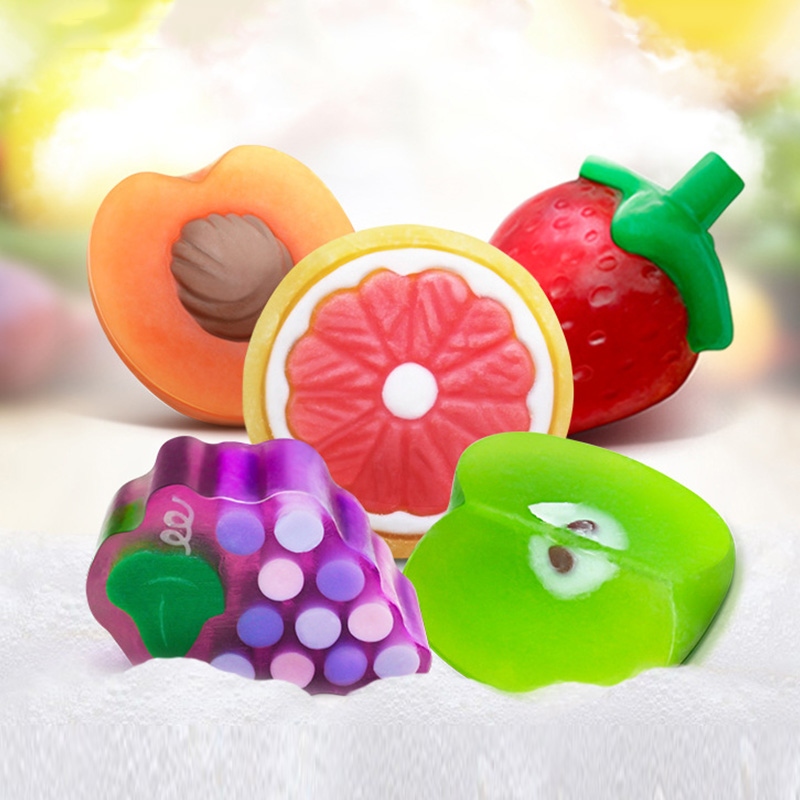 Bioaqua New Handmade Essential Oils Soap Child Gift Fruit Soap Bath Body Work Skin Bleach Soap(China (Mainland))