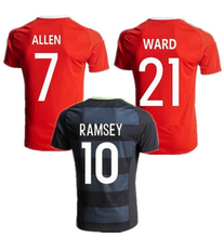 Soccer Jerseys Wales Camiseta 2016 / 2017 football shirt T-shirt Customize embroidery logo 3A+++Best thai quality Wales Jerseys(China (Mainland))