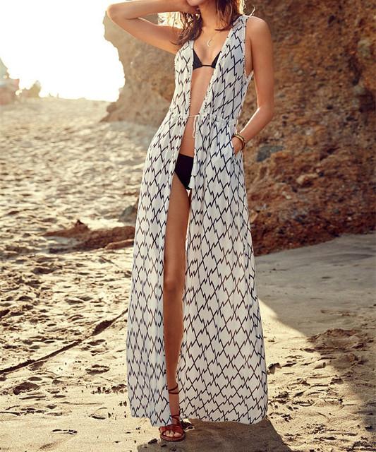 Бренд летом кимоно кардиган купальный костюм сокрытия пляжная купальник бикини халат туника пляж Cover Up плавать-порте # Q4