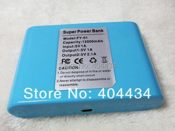 portable charger power bank 12000mah universal dual usb charger station 100pcs power bank + 100pcs retail box + 100pcs usb cable(China (Mainland))