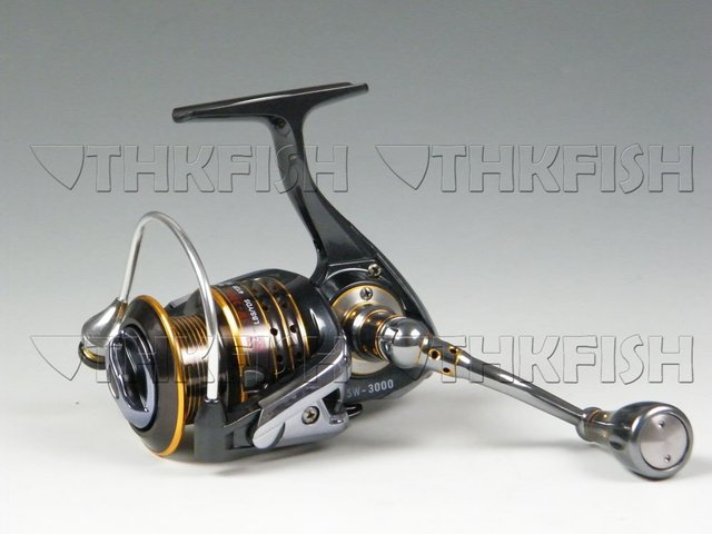 Free Shipping! 11+1 Ball Bearing HuiHuang SW3000 Frong Drag Fishing Spinning Reels Salt Water Reels aluminium Handle