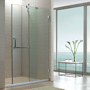 Customize sliding door partition bathroom glass door frameless shower