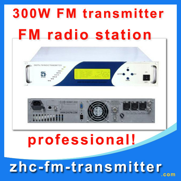 ZHC618F-300W FM Transmitter for fm station professional fm radio broadcasting wireless transmitter(China (Mainland))