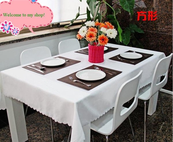 180*180cm WHITE SQUARE TABLECLOTH and ROUND TABLECLOTH,BECAUTIFUL LACE,FREE SHIPPING!(China (Mainland))