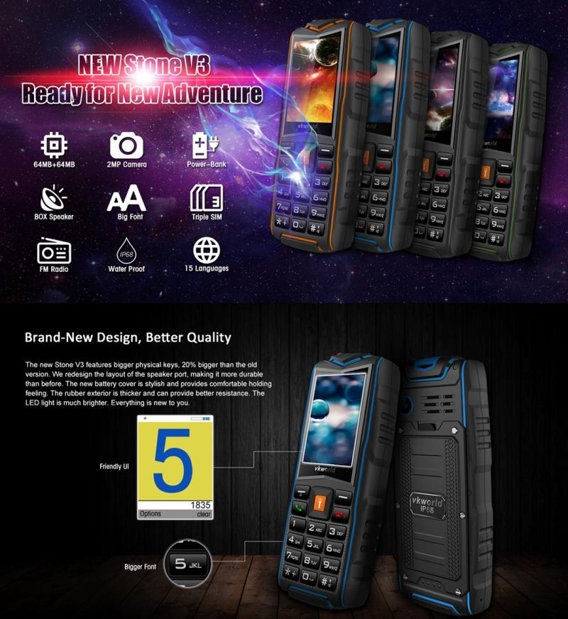 image for Original VKworld New Stone V3 Plus V3 Max V3S IP67 Waterproof Mobile P