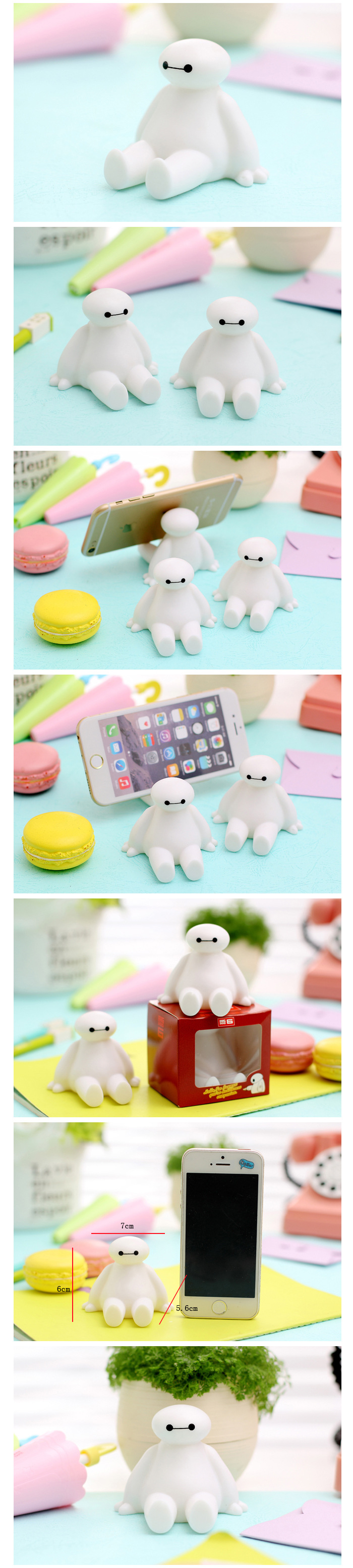 Cartoon White Stand Frame Mobile Phone Accessories Seat Bracket Lazy Holder For Samsung For iPhone For Xiaomi for All Phones