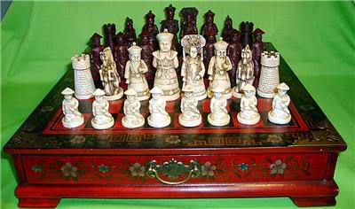 Collectibles Vintage 32 chess set wooden Coffee table - Honesty_first store