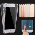 For iPhone 7 6s Cases Protect Transparent TPU Silicone Flexible Soft full Body Protective Clear Case