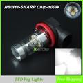 100W 850LM H11 LED Fog Lamp Bulbs 12V 24V H8 Car LED Daytime Running Lights Super