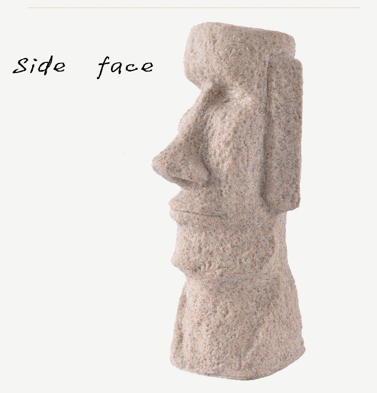 Classic Shots Easter Island Statues Easter Gifts Creative Household  Decoration Fine Sandstone Polished Crafts   Us64