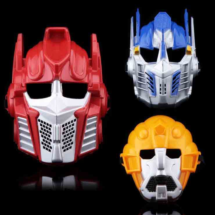 Cartoon Anime Transformers Chidren Mask Full Face PVC Kids Game Cos